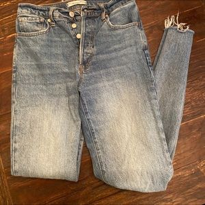 Free people size 26 straight leg jeans
